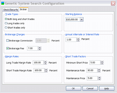 A screenshot of the Broker Configuration page